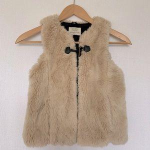 Zara Girls Soft Collection Faux Fur Vest Sz 10/11